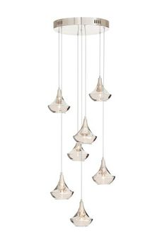 Next Sloane 7 Light Metallic Gold Cluster Pendant £120