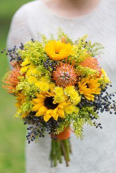 #casamento #bouquet #girassóis. Foto by André Teixeira, Brancoprata!