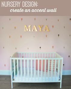 designing a girl's nursery? Create a sweet accent wall using paint and ice cream cone decals! Your little lady will LOVE it. - the sweetest digs