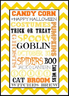 Halloween Subway Art Printable | Scribd