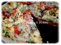 Pizza de abobrinha com Queijo Fundido Processado