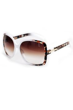 Celebrity Square Dot Print Sunglasses