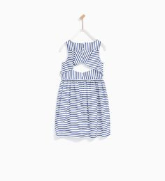 Image 4 of STRIPED DRESS WITH BACK FRILL from Zara