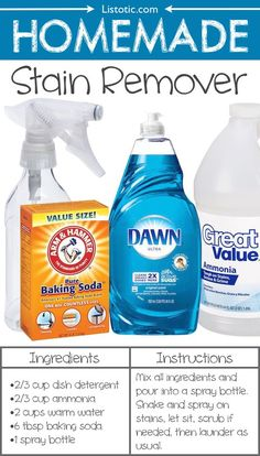 #14. Homemade Stain Remover -- 22 Everyday Products You Can Easily Make From Home (for less!) These are all so much healthier, too!