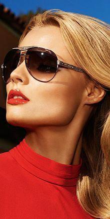 95be46e3c8 Take shade in this season s new sunglasses. Jimmy Choo.  JimmyChoo  Oversized Aviator Sunglasses