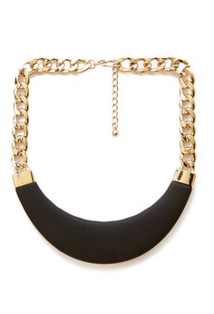 Faux Leather Bib Necklace | FOREVER21 - 1000104268