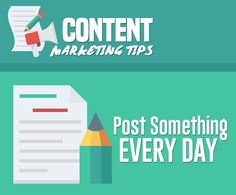 𝗠𝗮𝗿𝗸𝗲𝘁𝗶𝗻𝗴 𝗧𝗶𝗽. Post something every day. Digital Marketing Strategy, Digital Marketing Services, Marketing Plan, Content Marketing, Internet Marketing, Online Marketing, Social Media Marketing, How To Get Clients, Reputation Management