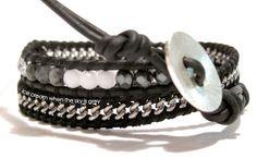 ice cream when the sky is grey: DIY Bracelet Tutorial: Chain Mix 2 Wrap Leather Bracelet (Chan Luu Style)