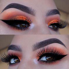 23 Gorgeous Summer Makeup Looks for 2018 Vibrant Orange Eye Makeup for Summer Eye Makeup Tips, Makeup Inspo, Makeup Inspiration, Beauty Makeup, Makeup Ideas, Makeup For Eyes, Hair Makeup, Makeup Hacks, Makeup Style
