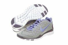 Womens Nike Free TR Fit 2 Running Shoes Medium Grey / Violet Purple 487789-019 Price: $105.75