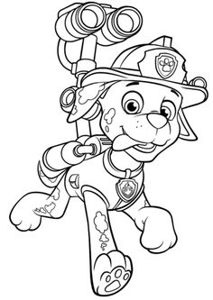 Paw Patrol Marshall with Water Cannon Kolorowanka