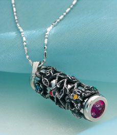 1 1/2 inch pewter pendant is a working kaleidoscope! The colors inside shift as you rotate the barrel. $29.95 #necklace #fun