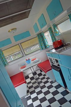 a perfectly partyforacause caravan interior? Also a perfect home office!