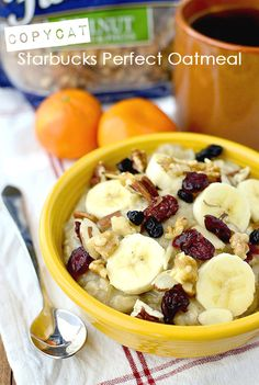 Copycat Starbucks Perfect Oatmeal #copycat #breakfast @Iowa Girl Eats | iowagirleats.com