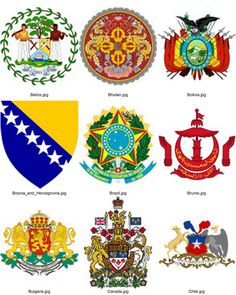 National Emblem's of the world country