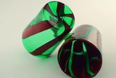 """Handmade Murano Glass Blown Drinking Glasses """"VASO HANDI"""" (€65 each)"""