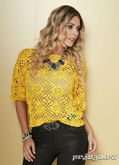 Cotton blouse with short sleeves