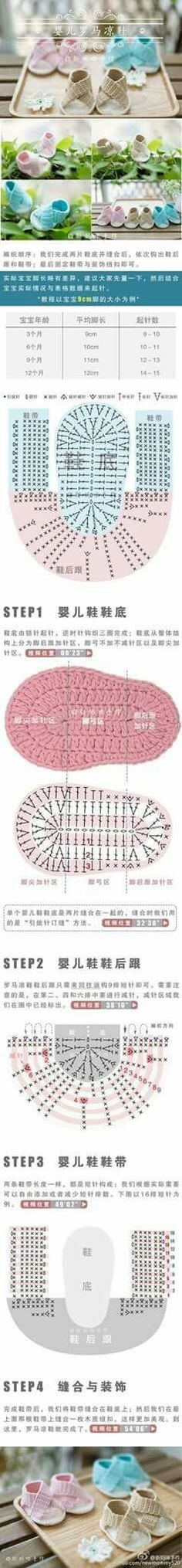 Sandálias de Crochê feitas à mão - /  Crochet Sandals Handmade -