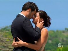 "A touching scene from #TheBachelorette finale as Desiree Hartsock goes from ""heartbreak"" tears with Brooks to tears of ""joy"" with Chris."