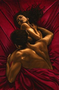 Black Art African American Ill kiss every part of you. By Richard Young Art Black Love, Art Of Love, My Black Is Beautiful, Black Couple Art, Black Couples, African American Art, African Art, Art Amour, Art Beauté