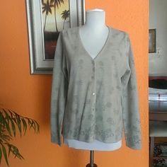 Cute Cardigan NORTON. Cardigan NORTON.100%acrylic, gray,.print. NORTON Sweaters Cardigans