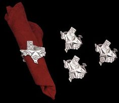Napkin Rings by Arthur Court - Texas Shaped
