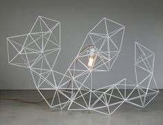 Geometric Wire Sculpture Light - LifeSpaceJourney