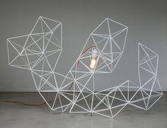 Geometric Wire Sculpture Light - LifeSpaceJourney