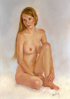 I enjoy drawing figure studies and for the female nude I like to work in pastel. I use French Sennelier artist's soft pastels and their own special card. The sale of two of my nude studies to Australia last week has encouraged me to paint some more.
