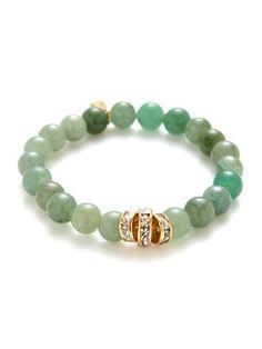 Ettika Jewelry Green Aventurine & Crystal Beaded Stretch Bracelet