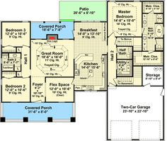 655847 4 bedroom 2 bath country farmhouse with open for Usda house plans