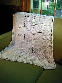 Ravelry: Cross Baptism Blanket pattern by Karin Wallace (hamburke) Crochet Cross, Knit Or Crochet, Free Crochet, Crochet Pouch, Christening Blanket, Crochet For Beginners Blanket, Crochet Afgans, Crochet Pillow, Crochet Blankets