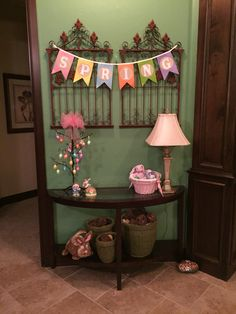 Easter entry table