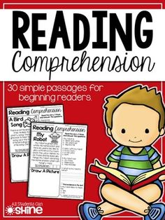 Reading Comprehension PassagesThese reading passages are perfect for a quick comprehension assessment!30 passages are included in this set.All passages have simple sight words and decodable words with digraphs and blends. There are 5-7 sentences per story.