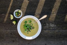 Green curry and broccoli soup #soup #recipe #broccoli #vegan #warming #curry