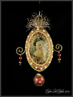 Victorian Ornament świąteczne - Portret w skorupce