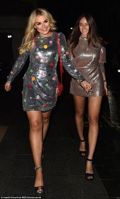 Galentine's day! Tallia Storm, 19, appeared in jovial spirits for Valentine's Day as she enjoyed a girls' night out at the Copper Dog NME Awards after party at Kadie's Cocktail Bar & Club on Wednesday