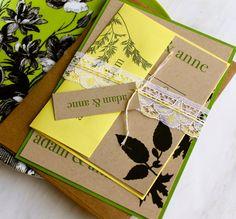 Green Leaf Boho  Natural Wedding Invitations  by BeaconLane, $6.75