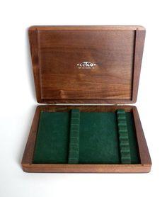 Wood Knife Box Cutco Knife Box Cutlery Box by BunnyFindsVintage