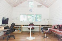 Open shelf desk