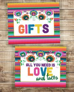 This GIFTS sign is perfect for your wedding or bridal shower fiesta! Fiesta Gifts Sign, Gifts Sign, Fiesta Sign, Wedding Sign, Bridal Shower Sign, Tacos Sign, Mexican Fiesta, Fiesta Decorations, Fiesta Ideas