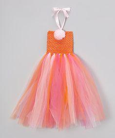 Pink & Orange Tulle Dress.