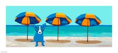 "Limited Edition Print ""Emerald Coast"" by Blue Dog George Rodrigue"
