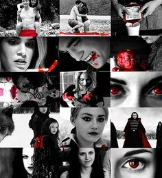 Breaking Dawn Black White and Red. More than a little creepy I must admit