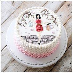 Atenção: não fazemos esses bolos, são apenas ideias para servir de inspiração para quem deseja colocar a mão na massa! Bolos Lindos!