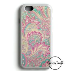 Pink Turquoise Girly Chic Floral Paisley Pattern iPhone 6/6S Case | casescraft