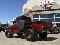 A Classic from the ground up modification and refresh of Bonnie's 54 525 Classic Jeep Willys Pickup Truck Modification. This is now a award worthy parade trophy truck to be shown off. Willis Pickup, Willis Truck, Jeep Pickup Truck, Chevy Trucks, Jeep 4x4, Pickup Truck Accessories, Willys Wagon, Old Jeep, Sweet Cars