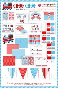 Image detail for -Vintage Choo-Choo Train Birthday Party Package $35.00