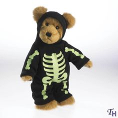 halloween skeleton teddy bear ~ by boyd's bears