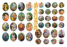 30x40 mm Images digitales pour cabochon ou transfert d'image Inde : Images digitales pour bijoux par luxe